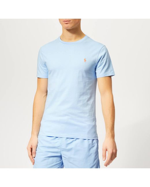 51062fe5 Polo Ralph Lauren - Blue Crew Neck T-shirt for Men - Lyst ...