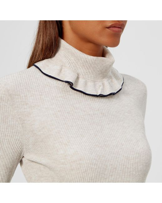 953e5d870c81e3 ... See By Chloé - White High Neck Jumper - Lyst