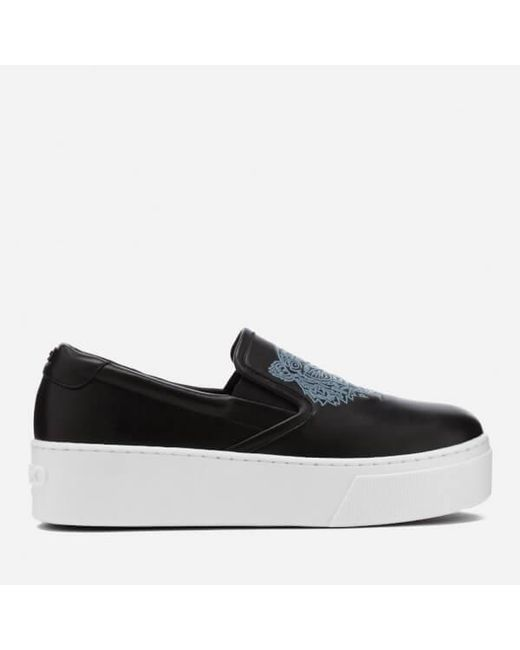 Kenzo 40MM TIGER LEATHER SLIP-ON SNEAKERS Pfob7vueZ
