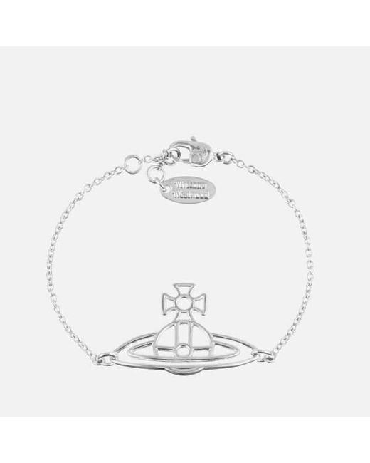 Vivienne Westwood | Metallic Women's Thin Lines Flat Orb Bracelet | Lyst