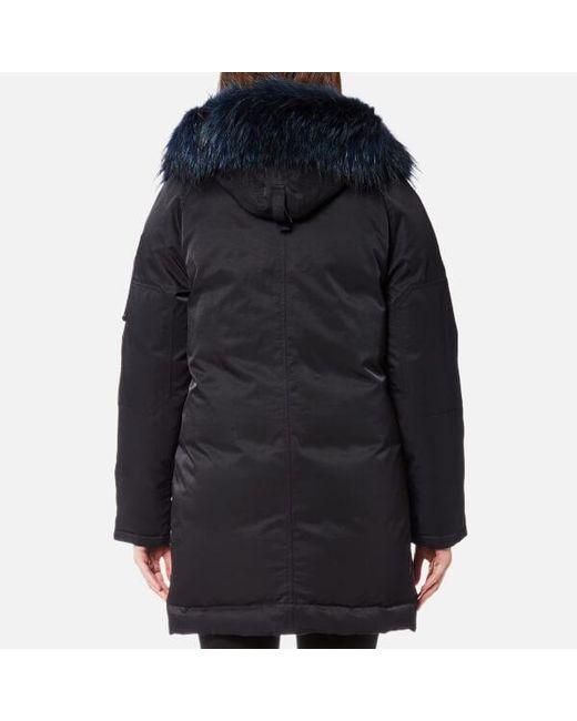 Kenzo Women's Technical Outerwear Nylon Hooded Parka Coat in Black ...