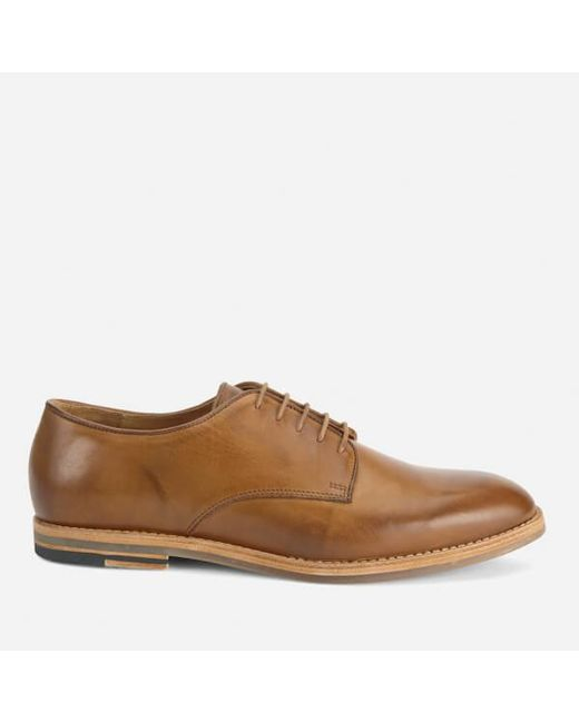 H by Hudson | Brown Men's Hadstone Leather Plaintoe Shoes for Men | Lyst