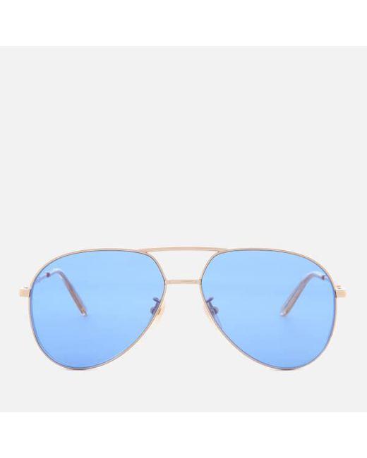 777a556e77a Gucci - Metallic Metal Frame Sunglasses for Men - Lyst ...
