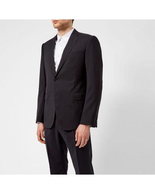 Emporio Armani - Black Men's 2 Button Single Breasted Suit for Men - Lyst