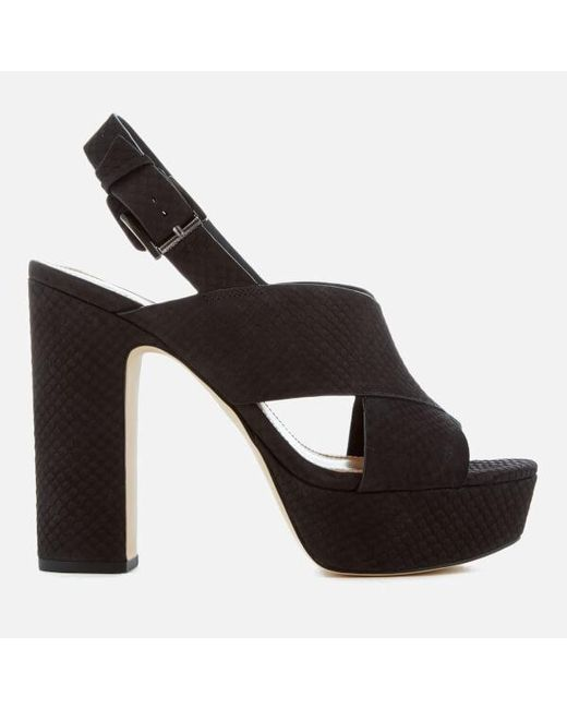 MICHAEL Michael Kors - Black Women's Mariana Sling Back Platform Sandals - Lyst