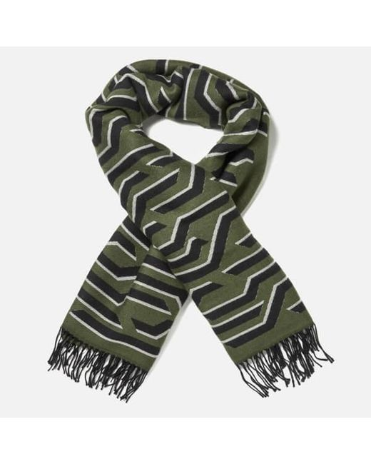 KENZO - Green Women's Geotiger Wool Scarf - Lyst