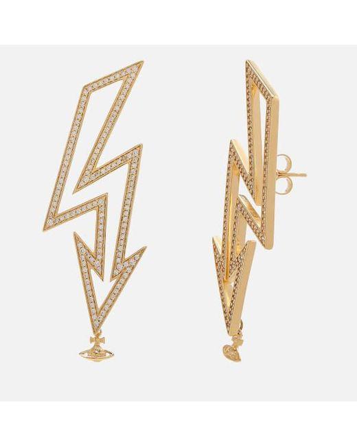 Vivienne Westwood | White Women's Isadora Earrings | Lyst