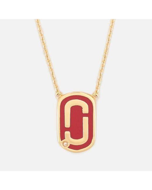 Marc Jacobs - Red Women's Double J Enamel Pendant - Lyst