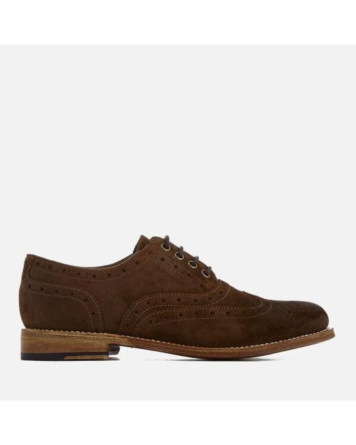 GRENSON | Brown Women's Rose Burnished Suede Brogues | Lyst