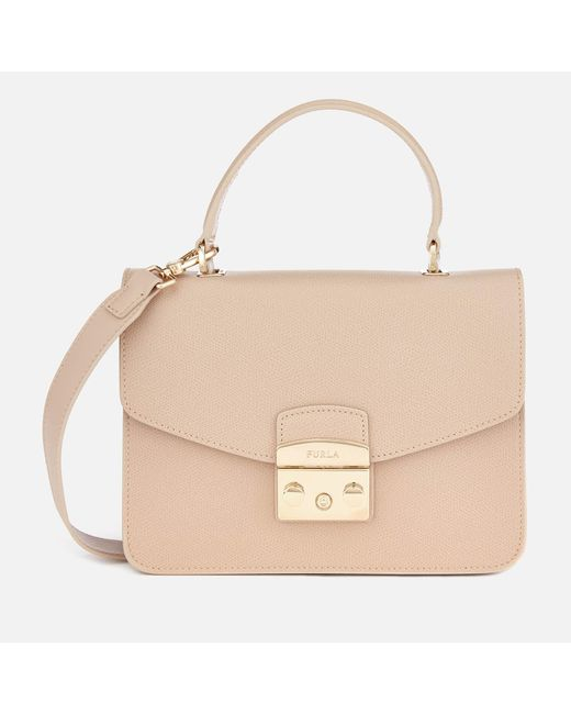Furla - Natural Metropolis Small Top Handle Bag - Lyst