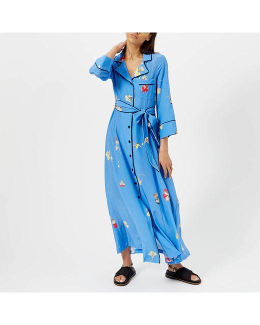 faddba03 Ganni - Blue Joycedale Dress - Lyst ...