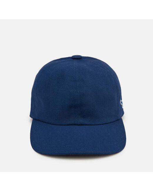 Maison Kitsuné Men s Tricolor Fox Patch Cap in Blue for Men - Lyst 202b83197edb