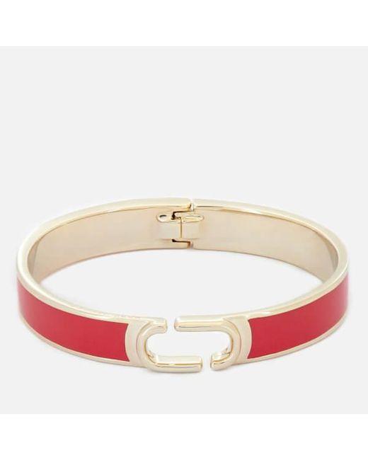 Marc Jacobs - Red Women's Double J Enamel Hinge Cuff Bracelet - Lyst