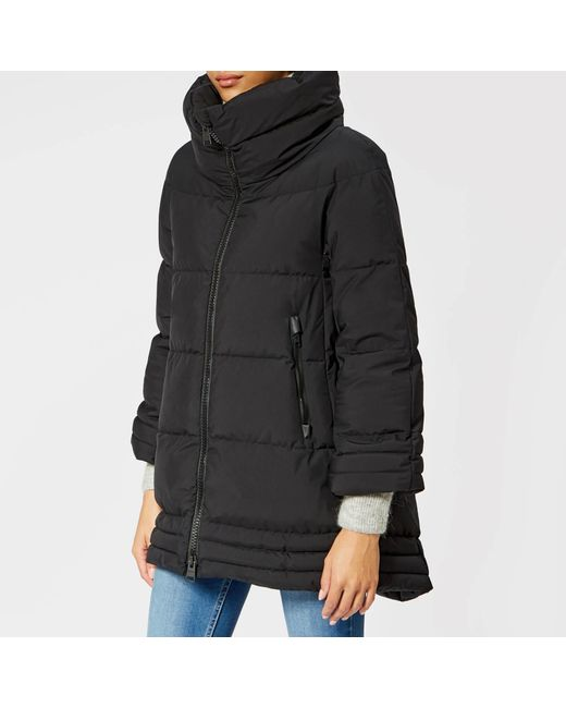 Herno - Black Laminar Padded Coat - Lyst