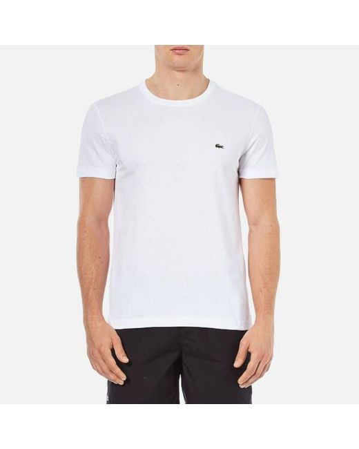 Lacoste - White Basic Crew T-shirt for Men - Lyst