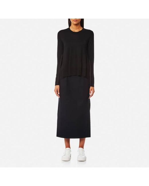 e1ca78b648 MM6 by Maison Martin Margiela - Black Women s Fine Knitted Jumper With Tie  Side Details ...