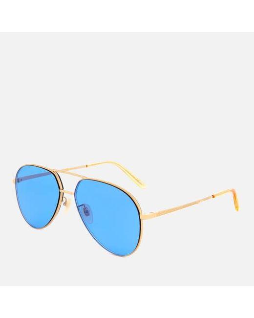 fe8062e2562 ... Gucci - Metallic Metal Frame Sunglasses for Men - Lyst ...