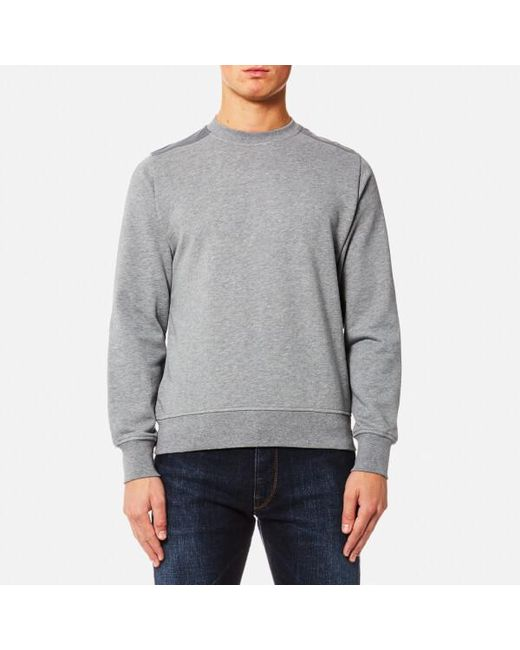 PS by Paul Smith | Gray Men's Panelled Crew Neck Sweatshirt for Men | Lyst