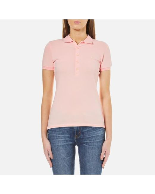 Polo Ralph Lauren | Pink Women's Julie Polo Shirt | Lyst