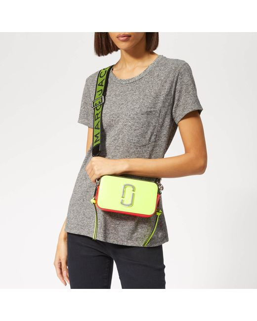8f5636a284 Marc Jacobs Snapshot Fluoro Cross Body Bag in Yellow - Save 53% - Lyst
