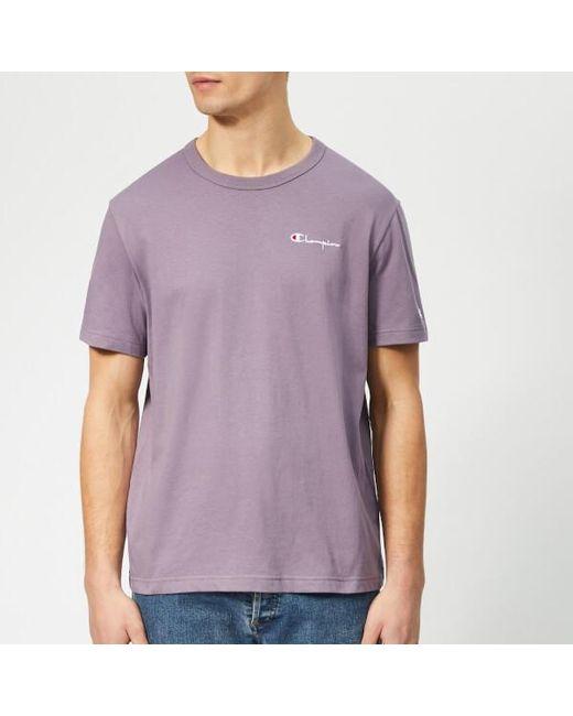 034a1e1a Champion Men's Small Script Tshirt in Purple for Men - Lyst