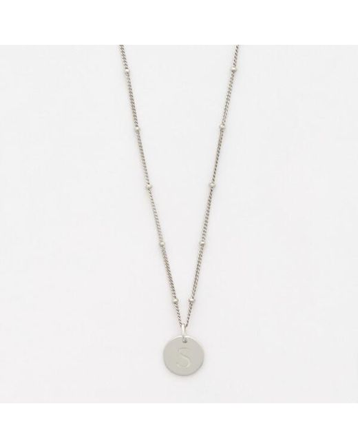 Missoma - Metallic Women's Silver 's' Initial Necklace - Lyst