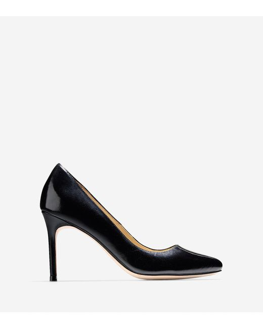 Cole Haan | Black Bethany Pump (85mm) - Almond Toe | Lyst