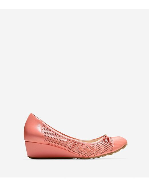 Cole Haan | Pink Tali Grand Lace Wedge (40mm) | Lyst