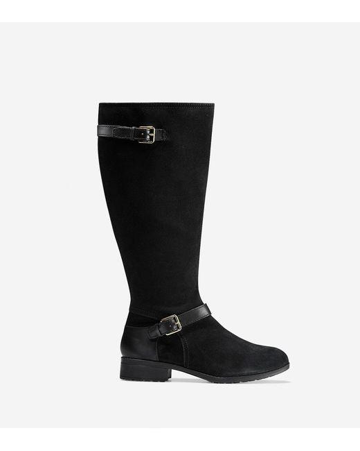 Cole Haan | Black Marla Waterproof Tall Boot (30mm) | Lyst