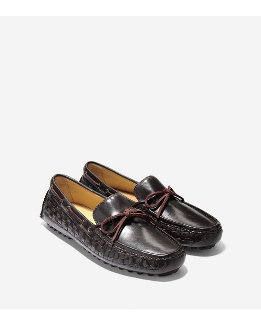 ... Cole Haan - Brown Giraldo Leather Penny Loafer for Men - Lyst ...