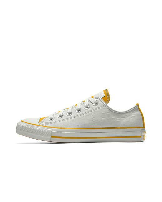 258b4aefa1d4 Converse - White Custom Chuck Taylor All Star Low Top Shoe for Men - Lyst