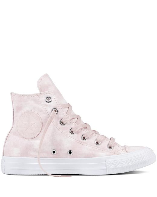 Converse - Pink Chuck Taylor All Star Peached Wash - Lyst