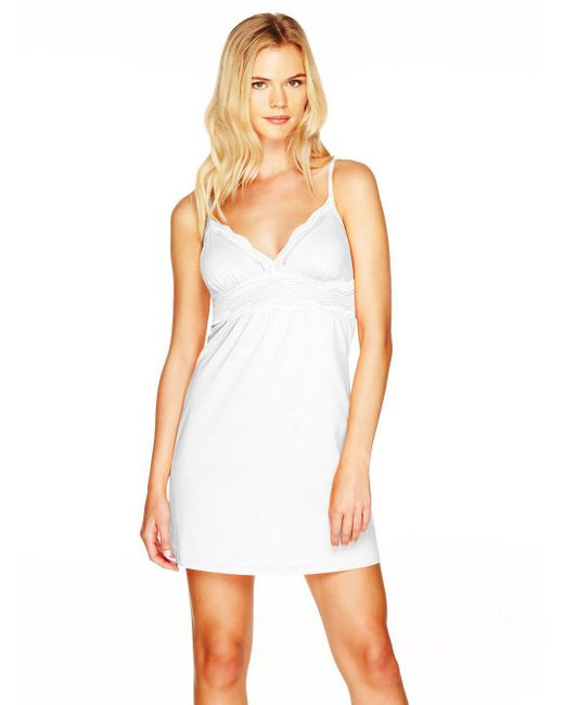 Cosabella | White Dolce Cotton Cup Babydoll | Lyst