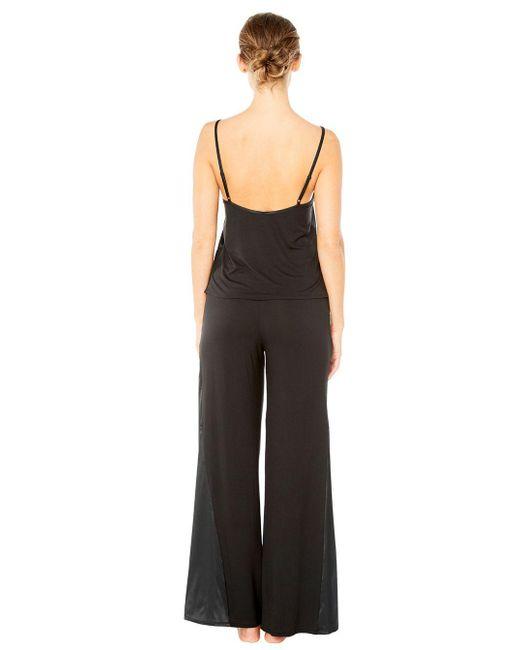 Cosabella | Black Baya Wide Leg Pant | Lyst