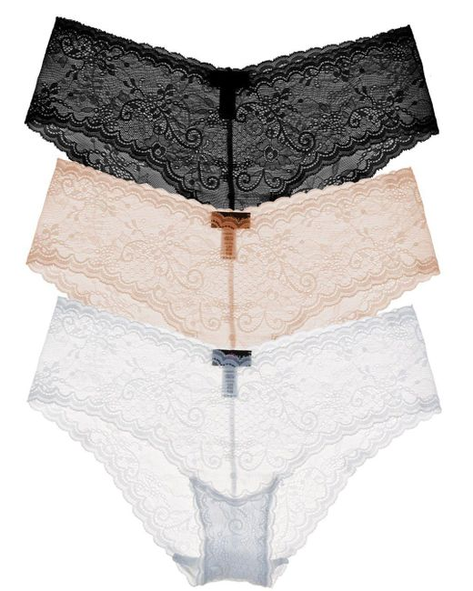 Cosabella | Natural Trentatm Lowrider Lace Hotpant Basic Pack | Lyst