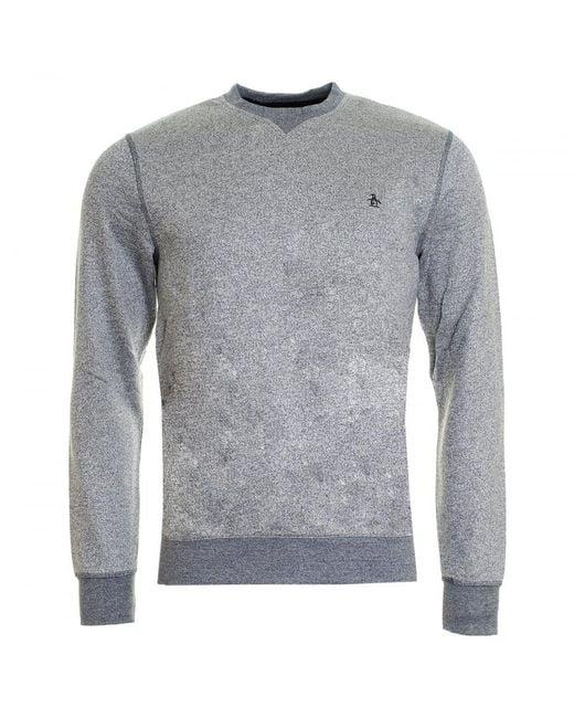 Original Penguin - Gray Tri-colour Mouline Loopback Mens Sweatshirt for Men - Lyst