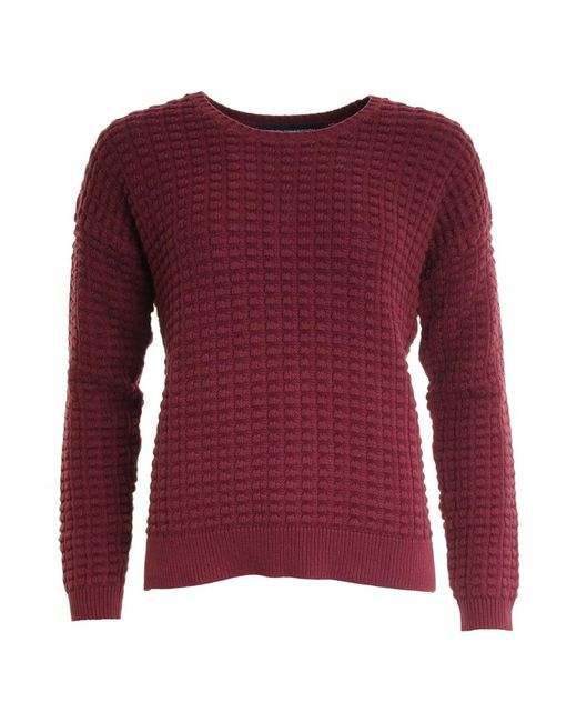 French Connection - Red Mozart Popcorn Cotton Jumper - Lyst