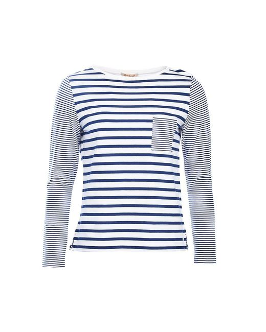 Barbour | Blue Barnacle Stripe Jersey Top | Lyst