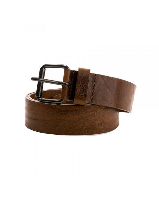 BOSS Brown Jesse Leather Belt for men