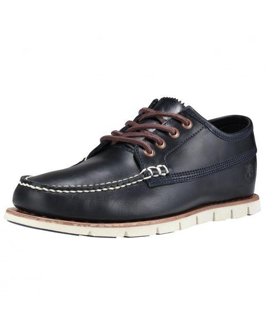 Timberland   Blue Tidelands Ranger Moc Dark Indigo Leather Shoe for Men   Lyst