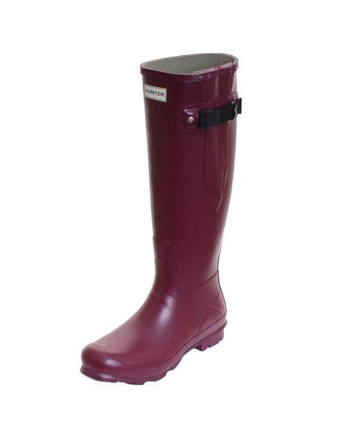 Hunter | Purple Field Norris Side Adjustable Ladies Wellington Boot | Lyst