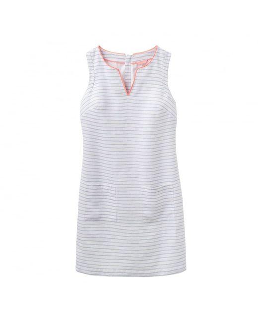Joules   White Lena Linen Notch Neck Ladies Dress (u)   Lyst