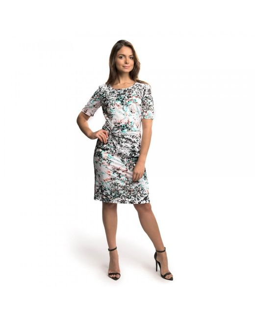 Great Plains - Black Miquita Marble Rouched Womens Dress - Lyst