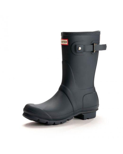 Hunter - Blue Original Short Ladies Wellington Boots - Lyst