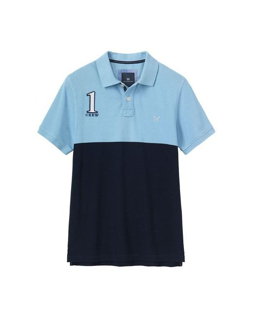Crew | Blue Crew Numbers Polo for Men | Lyst