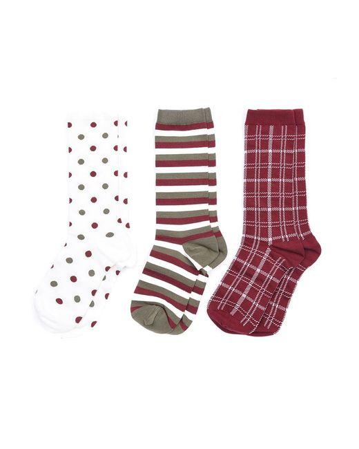 Barbour - Multicolor Spot Stripe Ladies Sock Set - Lyst