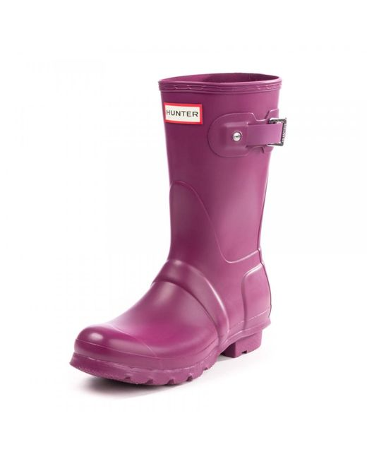 Hunter - Purple Original Short Ladies Wellington Boots - Lyst