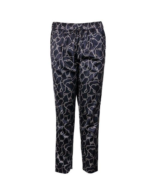 Gant - Blue Ocean Safari Rope Printed Ladies Pants - Lyst