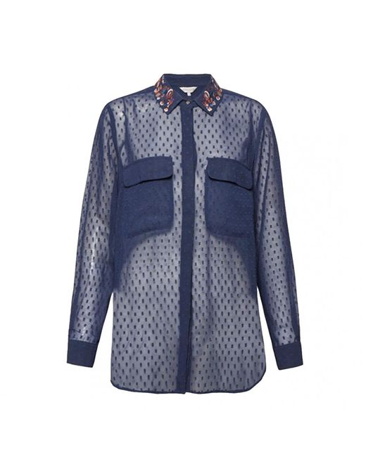 Great Plains - Blue Highland Embroidery Womens Shirt - Lyst