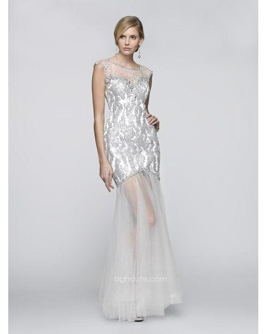 BG Haute | G Dress In White Silver | Lyst
